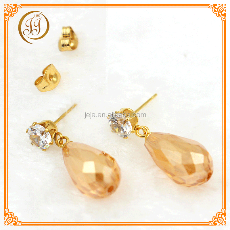 New Arrival Gold Plated Cheap Drop Earrings Stylish Zircon Earring For Women Jewelry And Accessories