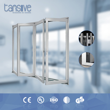 Golden supplier Tansive construction double glass square folding in construction