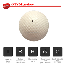 Wide Working Voltage Range Reduce Enviorment Noise & Echo AGC 0.8mm pinhole Golf Type CCTV microphone