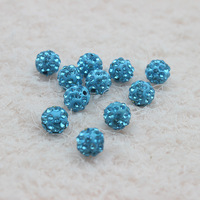 Handmade 10MM Two-Tone Color Micro Pave Disco Ball Crystal for Shamballa Bead Bracelet