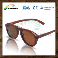 Natural Rose Polarized Wood Eyeglasses (WA08)