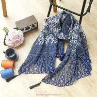 Wholesale Shaoxing Yiwu Custom Scarf Women Printed Winter Summer Polyester Scarves