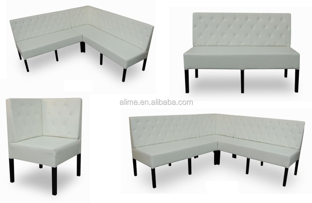 Alime modern wall booth seating corner booth seating for restaurant furniture AFBT013