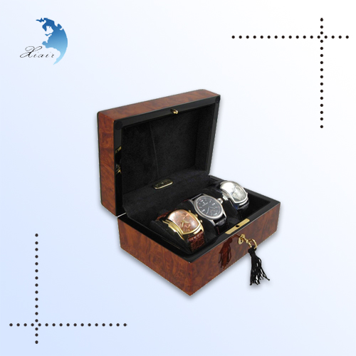 Wholesale christmas luxury packaging gift wooden custom watch box