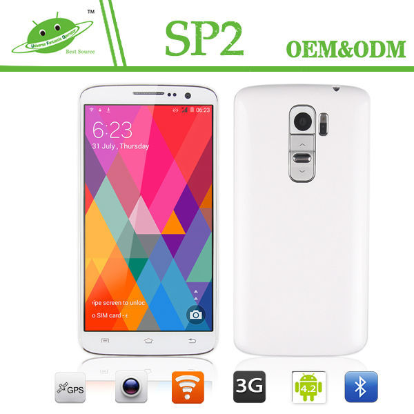 Best New Arrive Smart Mobile phone 5.0 Inch MTK6582 Quard Core 8GB ROM Infrared Sensor