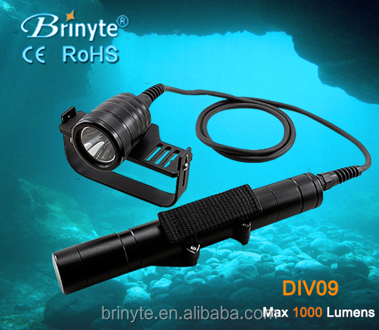 Brinyte DIV09 LED Canister Diving LED flashlight for technical diving