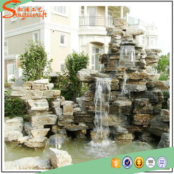 prefab wholesale indoor fountains wall artificial waterfalls for home