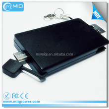 MIQ 2in1 gift ctedit card power bank with 8G,16G,32G,64G memory card