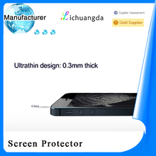 Newest premium tempered glass screen protector for iphone 4 mobile phone accessory best price paypal accepted (OEM / ODM)