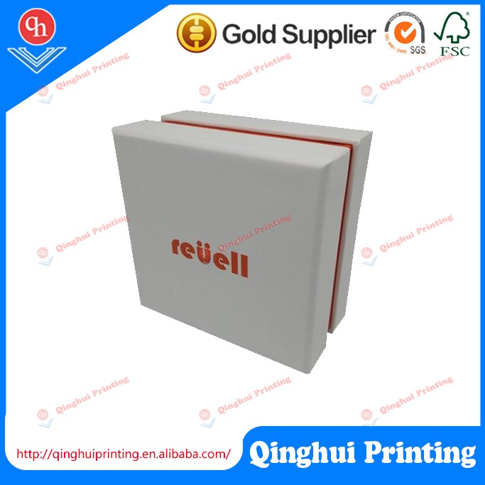 Free sample Custom Rectangle Small Card Packaging Paper Cardboard White Gift Boxes With Foam Insert