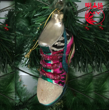 2018 Christmas decoration glass shoes figurines ornament for sale
