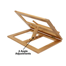 Holy Desktop Folding Adjustable Wooden Free Standing Book stand