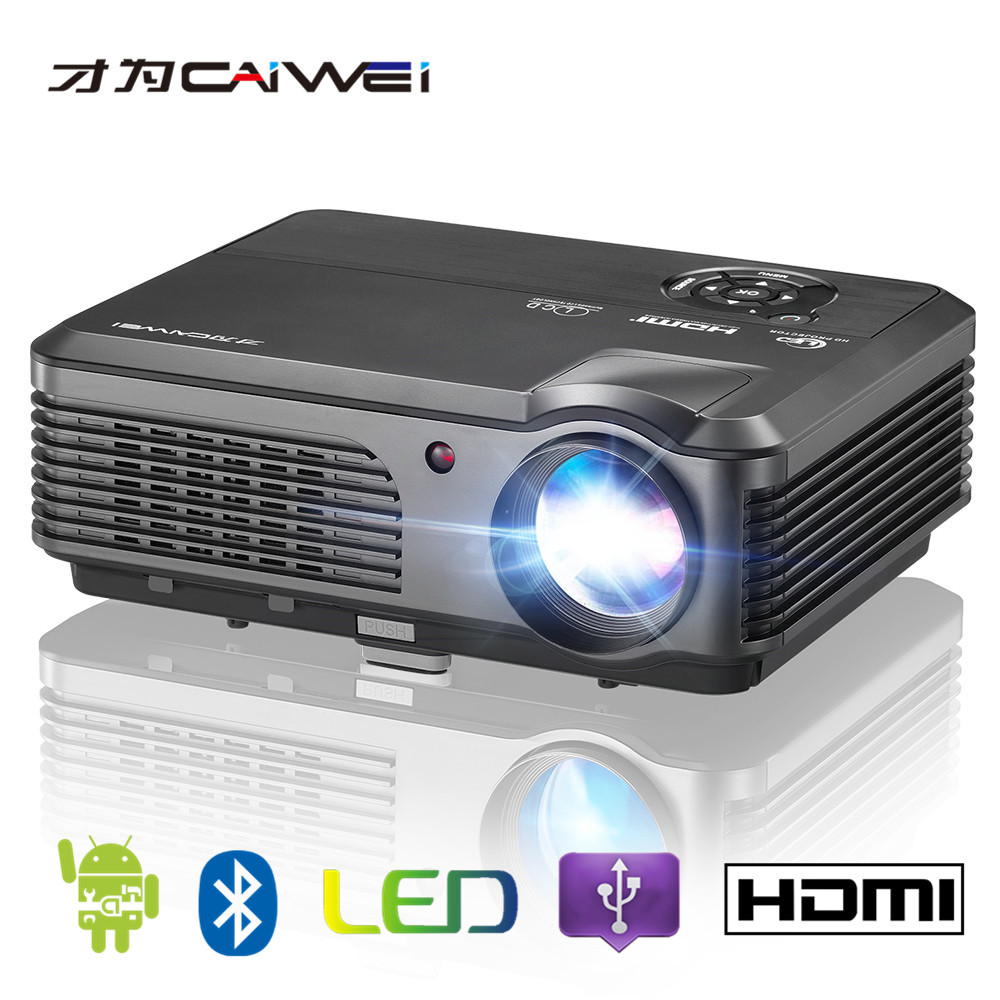 low power consumption CAIWEI A6AB android wifi bluetoothled lcd <strong>projector</strong> led video <strong>projector</strong>