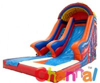 backyard inflatable water slide with wet pool for water park rental