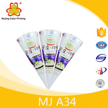 Wholesale Food Packaging Ice Cream Paper Cone