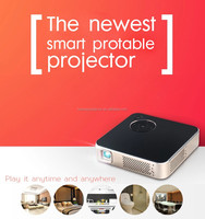 2016 DLP Newest wireless connect to iPhone, Android phone wireless portable mini projector