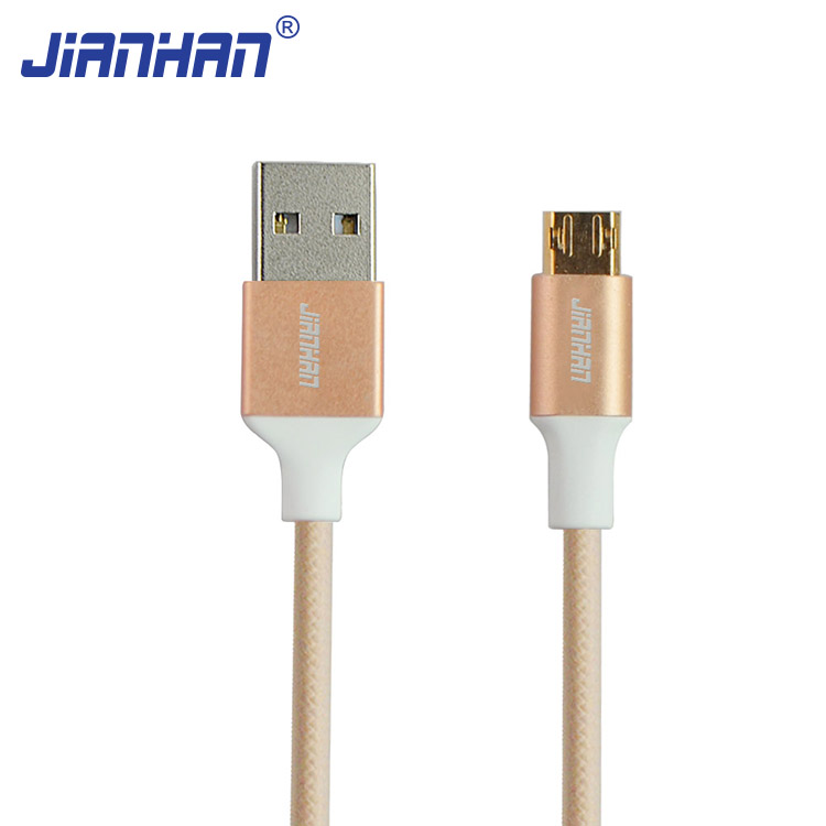 JH-DW-MC-250 ultra thin micro usb cable and usb to bare end cable