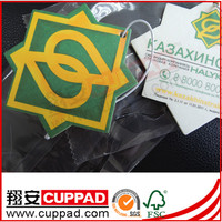 Best quality,new products empty bottle shape paper card car air freshener with CK scent