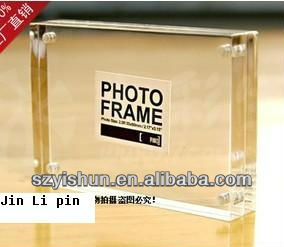 "JLP Elegant 8"" 10"" 12"" clear acrylic photo frame with magnet, acrylic photo frame can be rotated"