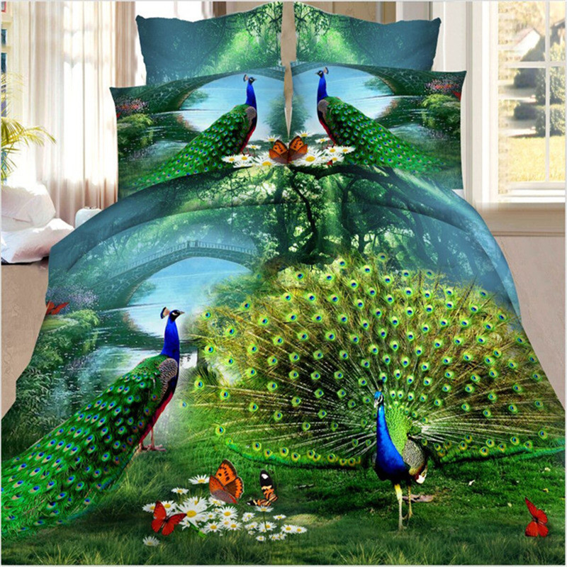 running horse bedding set 3d ,3d reactive printed bedding set,3d bedding set