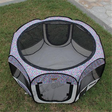 Large Pet Dog Cat Tent Playpen Exercise Play Pen folding fabric dog Crate
