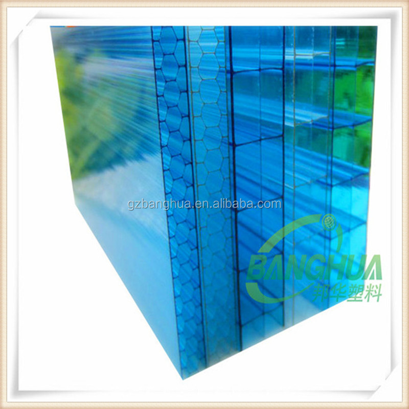 hollow double wall and triple wall 10mm polycarbonate sheet