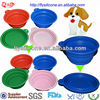 13cm Colorful Fancy Silicone Animal Pet Travel Bowls With Folding Design
