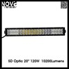 20'' Fish Eye Dual Row 5D Optic Offroad Led Lights Bar For Car Front Grille