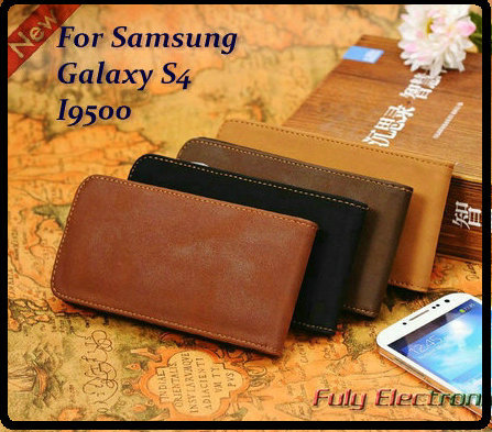 Retro Leather flip case cover for SAMSUNG Galaxy S4 i9500