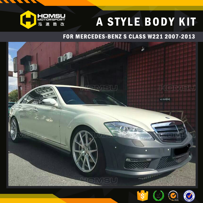 Auto parts styling 2007-2013 W221 S Class S63 AG style body kit with bumper design for b-en-z body kit