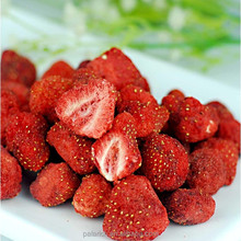 Dried natural strawberry chips in bulk package