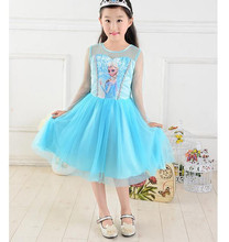 New Coming Girls Dresses Elsa Party Dress Casual Girls Costume elsa costume For Toddle GD40527-2B