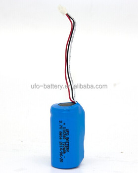 Li-ion Battery 3.7V 700mAh 16340 Cylindrical Battery Cell with PCM For Wireless Alarm System, Electronic Telescope
