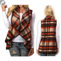 New Autumn Carpmeals Ladies Plaid Waterfall
