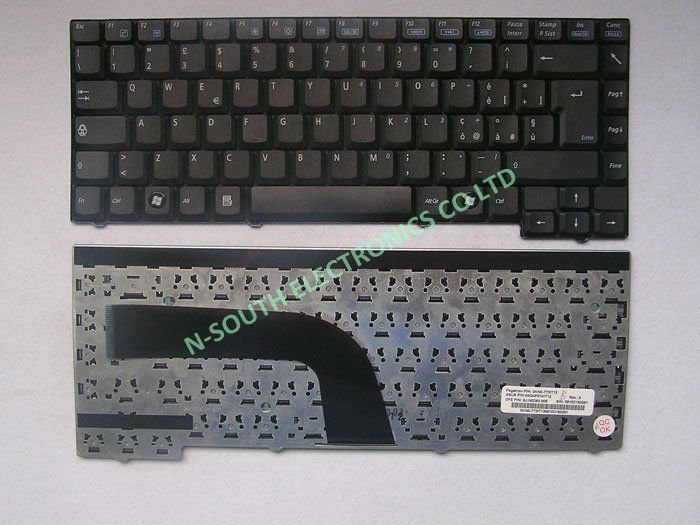 9j.n0d82.00e Black IT Italy Layout Notebook Laptop Keyboards for asus z94