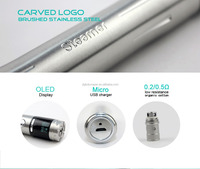 Latest mod box mod bottom button vaporizer custom vape pen with 4.5ml sub tank low resistance Sub Ohm tank 2000mAh 18650 battery