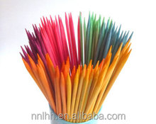 Fruit Flavor Color Bamboo Candy Skewers For Kids