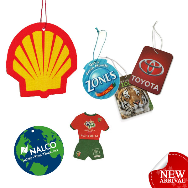 customized printing advertising absorbent hanging car paper freshener