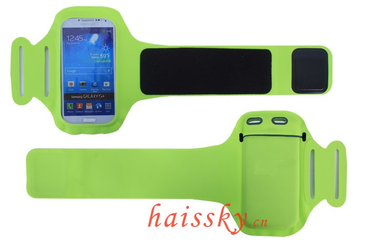 HAISSKY Hot Selling Adjustable Running Cycling Gym phone Lycra Sport Armband for mobile phone