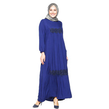2018 Moroccan Dress Flower Kaftan Embellished Silk Kaftan For Sale New Style Muslim Dress