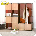 Wood-like plastic wardrobe cabinet