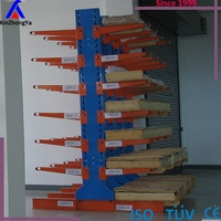 Powder coated double side lumber storage rack from China