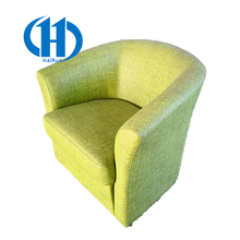 European Leather cloth art wooden single seater sofa chairs Home Hotel The reception Sofas chair