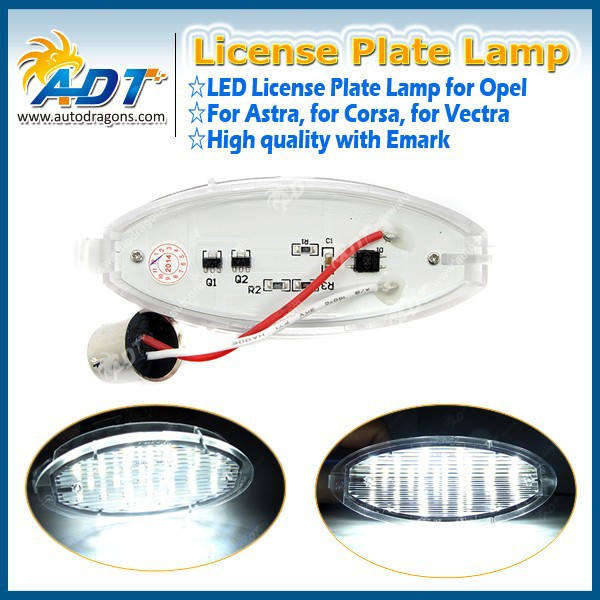 For Vauxhall for Opel for Corsa C D for Astra for Vectra LED License Number Plate Light
