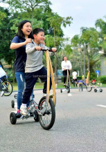 3 wheel manpower stand up bycicle bike