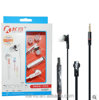 Karve Metal Stereo Wired With Mic , transfer and volume remote Wired In Ear Corded Earphone