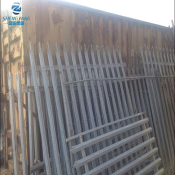 palisade fencing panels steel metal heavy duty 2.4 meter high galvanised