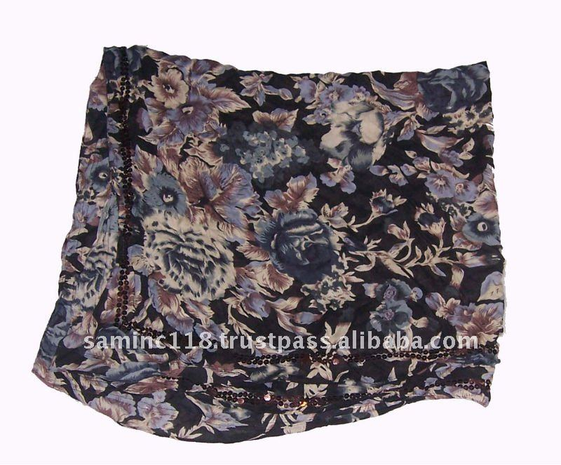 Rayon Printed Square Scarves