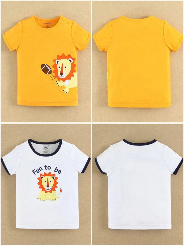 mom and bab 2015 summer baby clothing 100% cotton t shirt