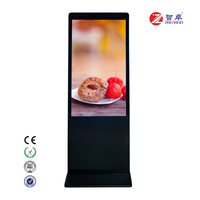55 65 inch floor standing high resolutionled windows OS 4K AD monitors interactive whiteboard